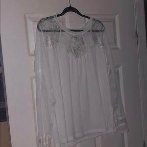 White sheer shirt